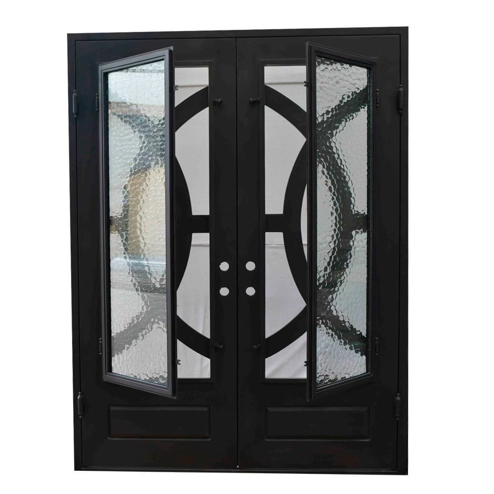 Exterior Wrought Iron Glass Doors Eclipse Collection