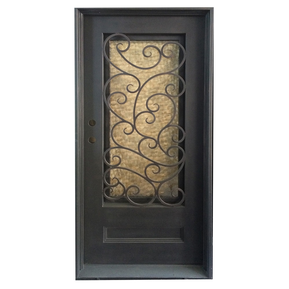 Grafton Exterior Wrought Iron Glass Doors Fern Collection