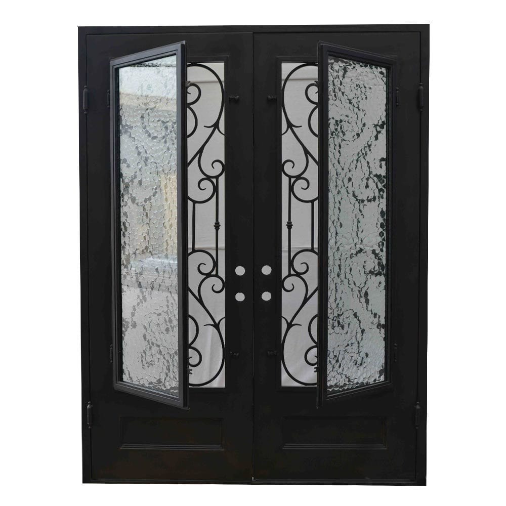 Exterior Wrought Iron Glass Doors Vine Collection
