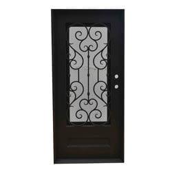Grafton Exterior Wrought Iron Glass Doors Vine Collection