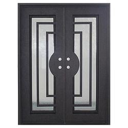 "Modern Exterior Metal Doors loyal iron doors iron doors - modern dark bronze modern / 82""x62"