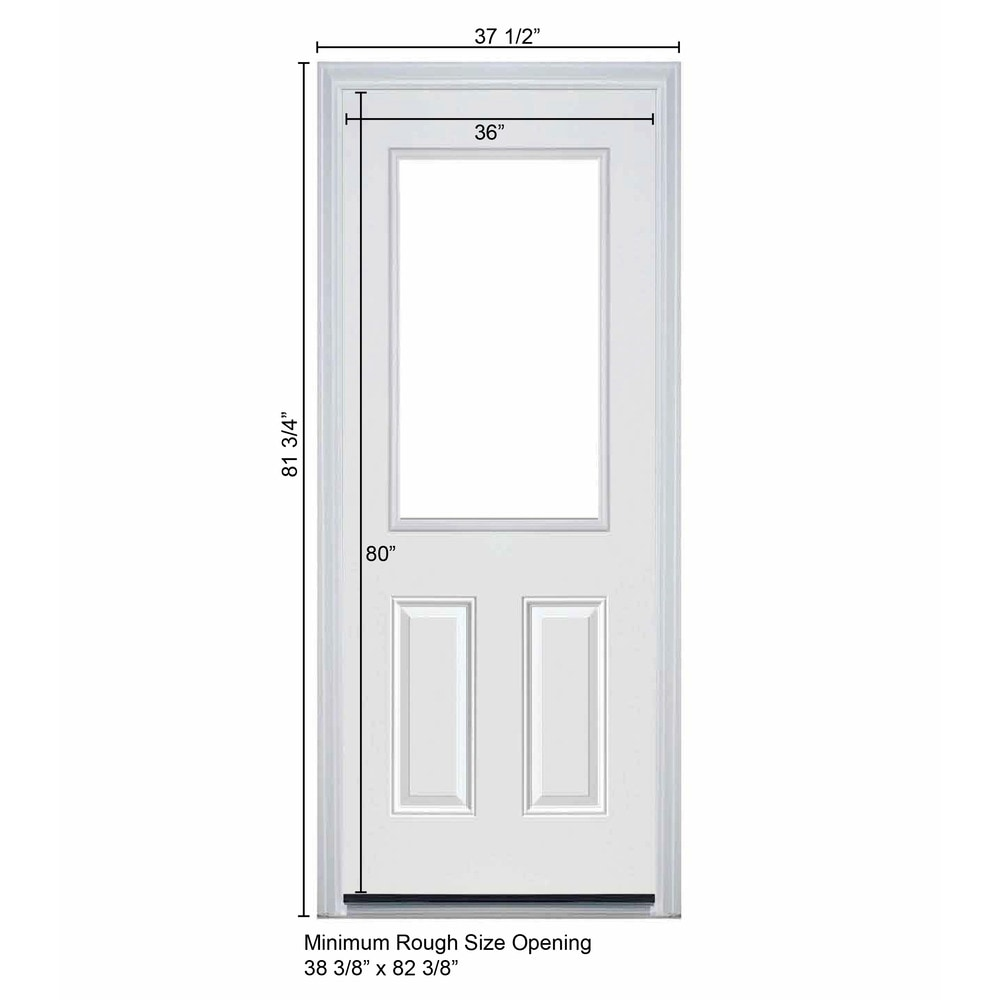 Captivating New Concept Exterior Doors   Pre Hung Steel Infinity Doors White . Part 10