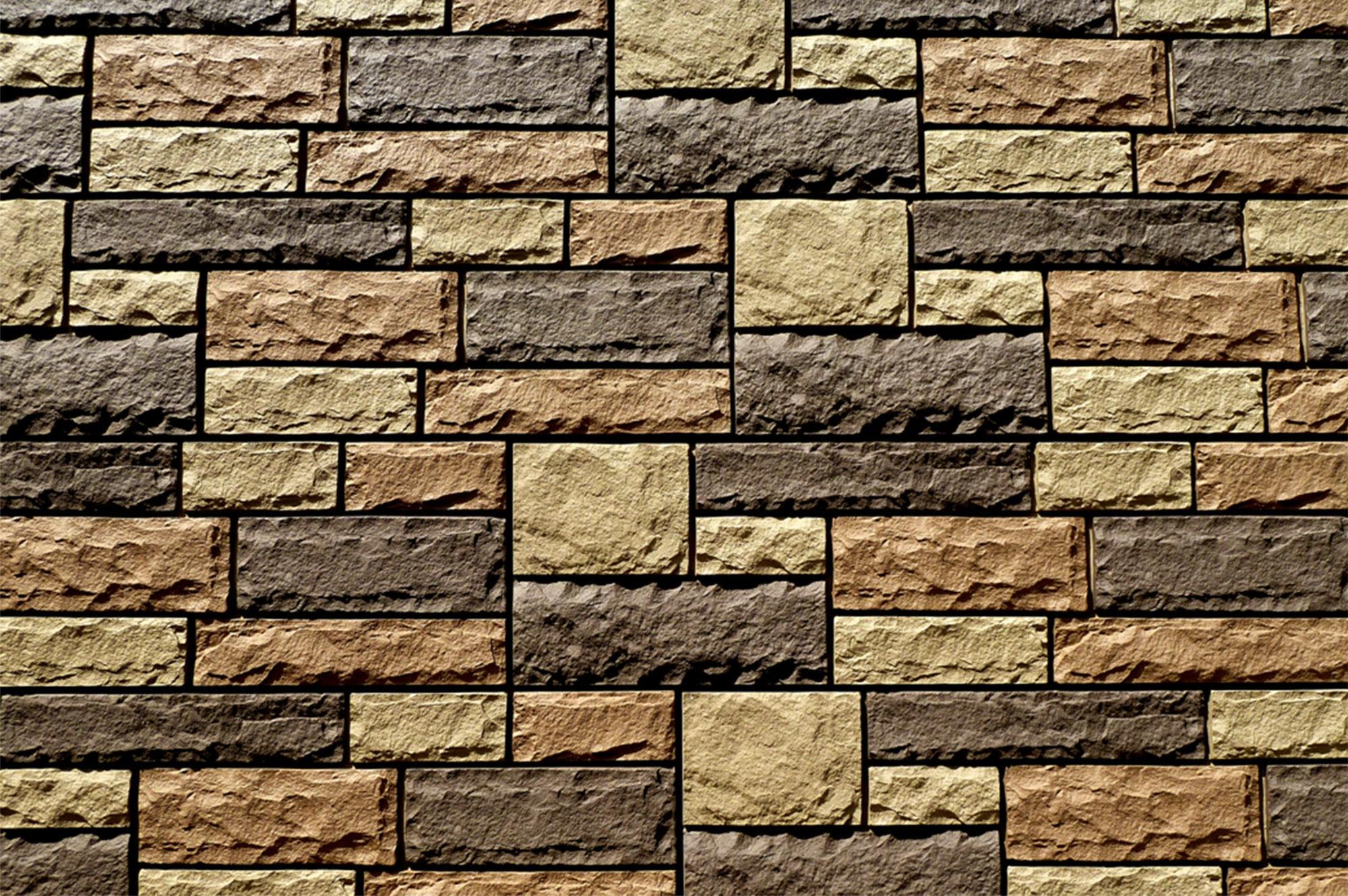 Toffee / 19 Sq ft Flat StoneWorks Faux Stone Siding - Lime Stone 0