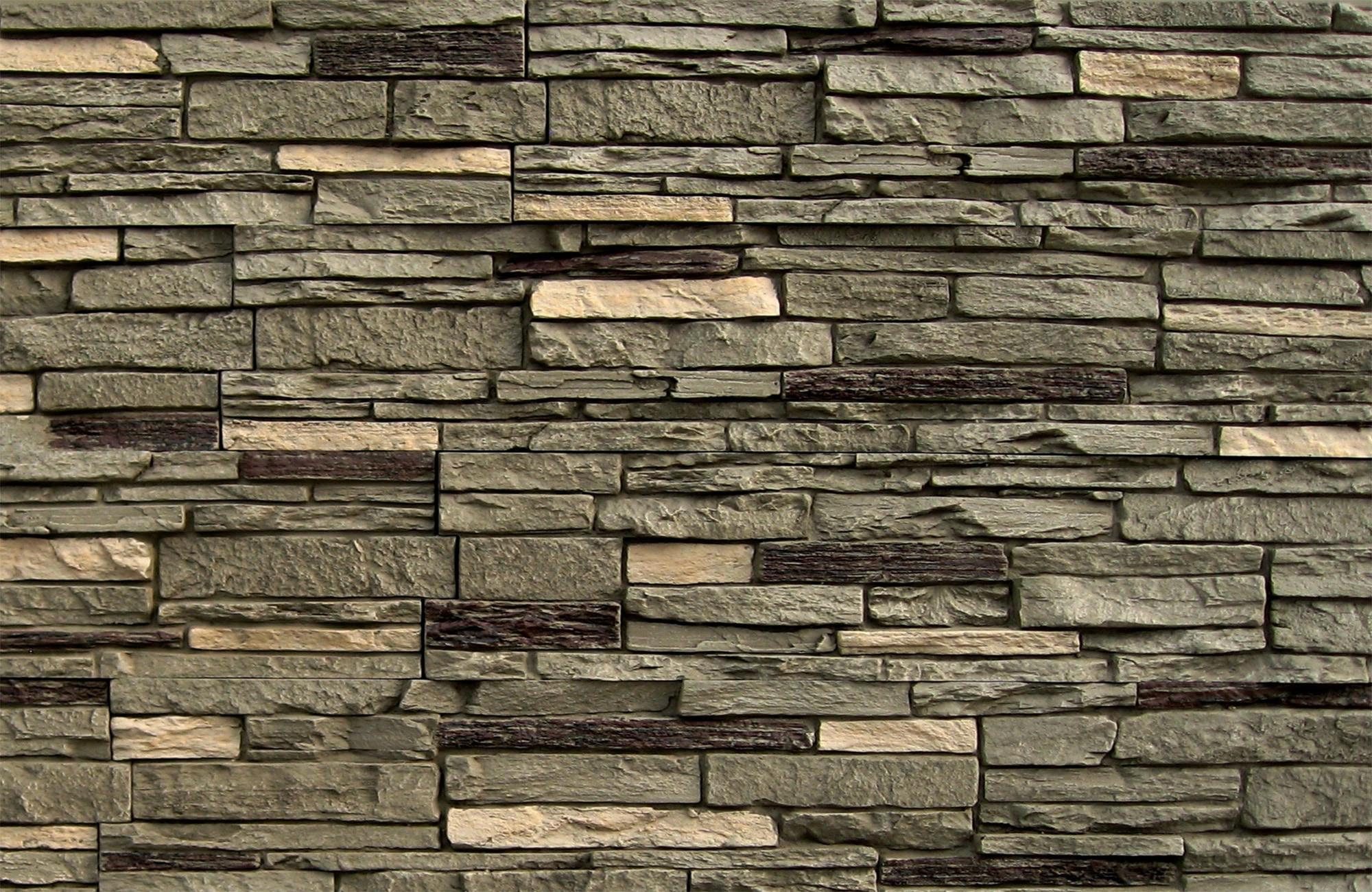 StoneWorks StoneWorks Faux Stone Siding - Slate Stone Iron / 17.12 ...
