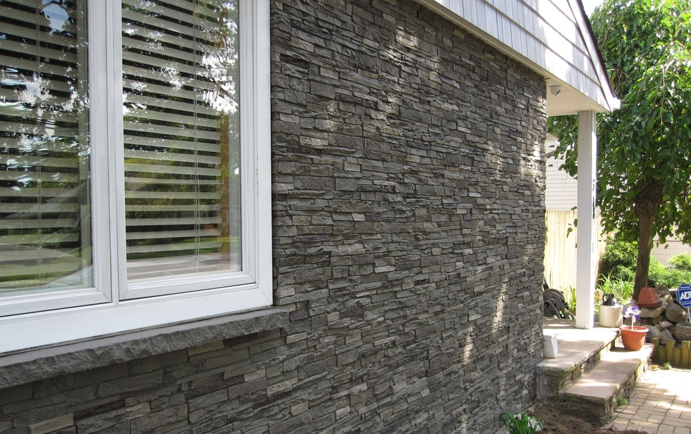 faux stone siding home depot canada slate iron sq ft flat panels best price fake installation