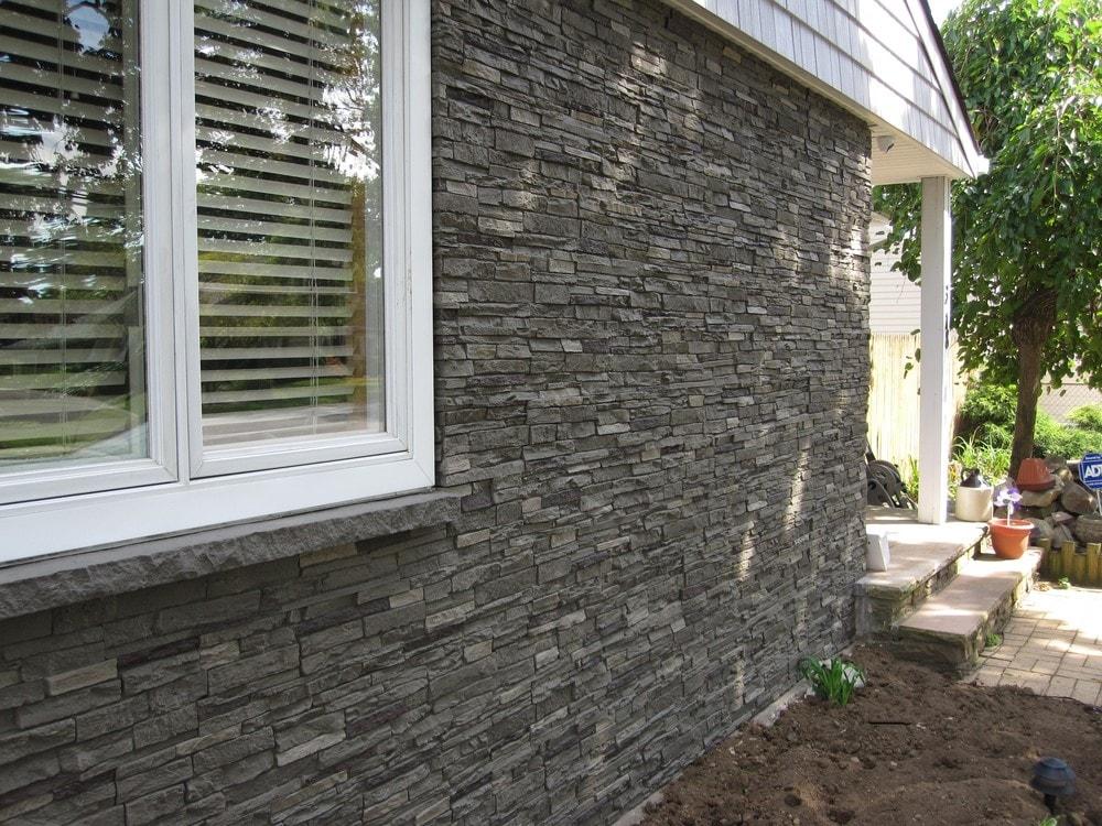 Stoneworks Stoneworks Faux Stone Siding Slate Stone Iron 1712