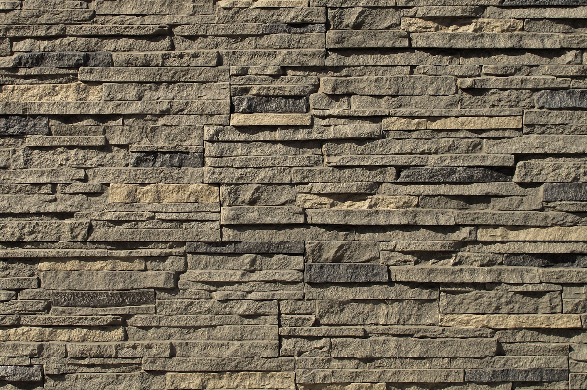 stacked stone exterior interior design