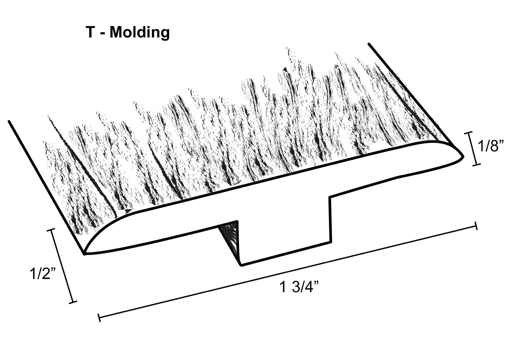 "Cog Railway Maple / T-Molding / 95-1/2""x 1-3/4""x 1/8"" Laminate Moldings - 12mm New England Collection - Cog Railway Maple 0"