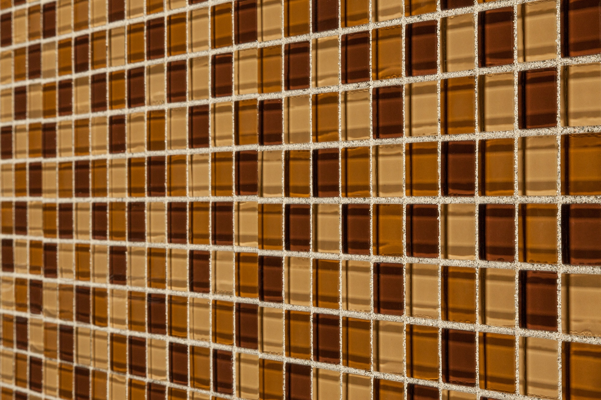 """Brown Blend / 1""""x1"""" Glass Mosaic - Crystalized Glass Blend Series 0"""