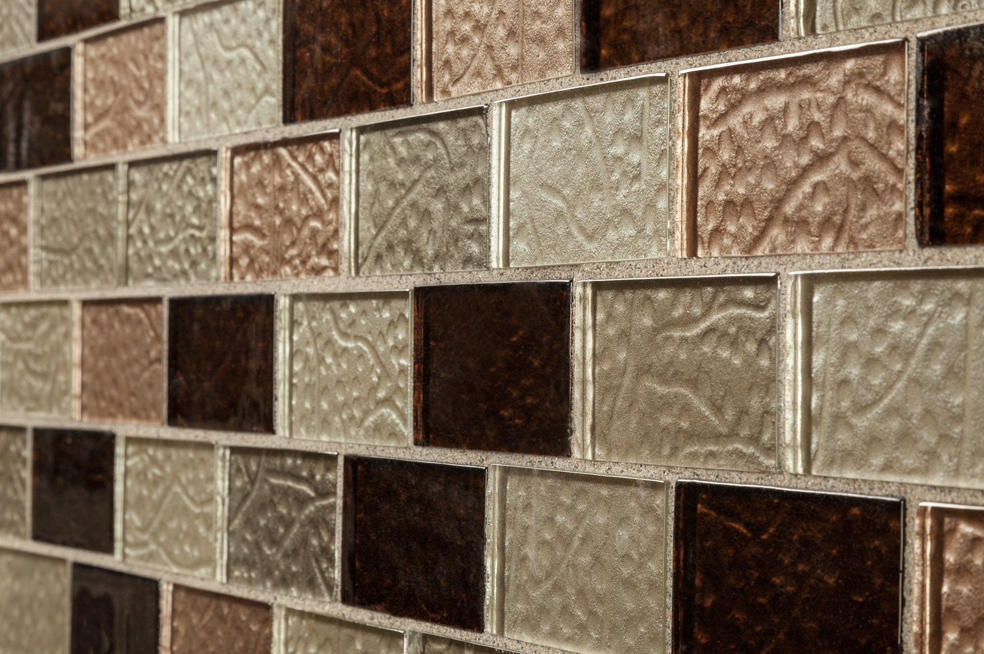 """Ayres Blend Subway / 2""""x4"""" Glass Mosaic - Crystalized Glass Blend Series 0"""