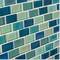 """Iridescent Blue Brick Blend / 1""""x2"""""""