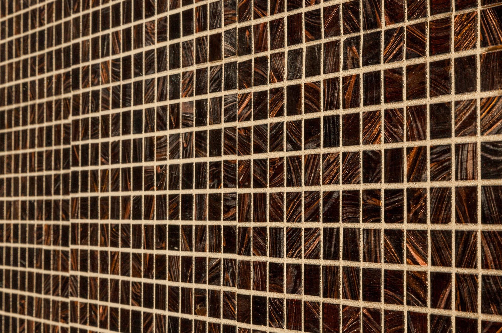 "Brown / 3/4""x3/4"" Glass Mosaic - Iridescent Series 0"