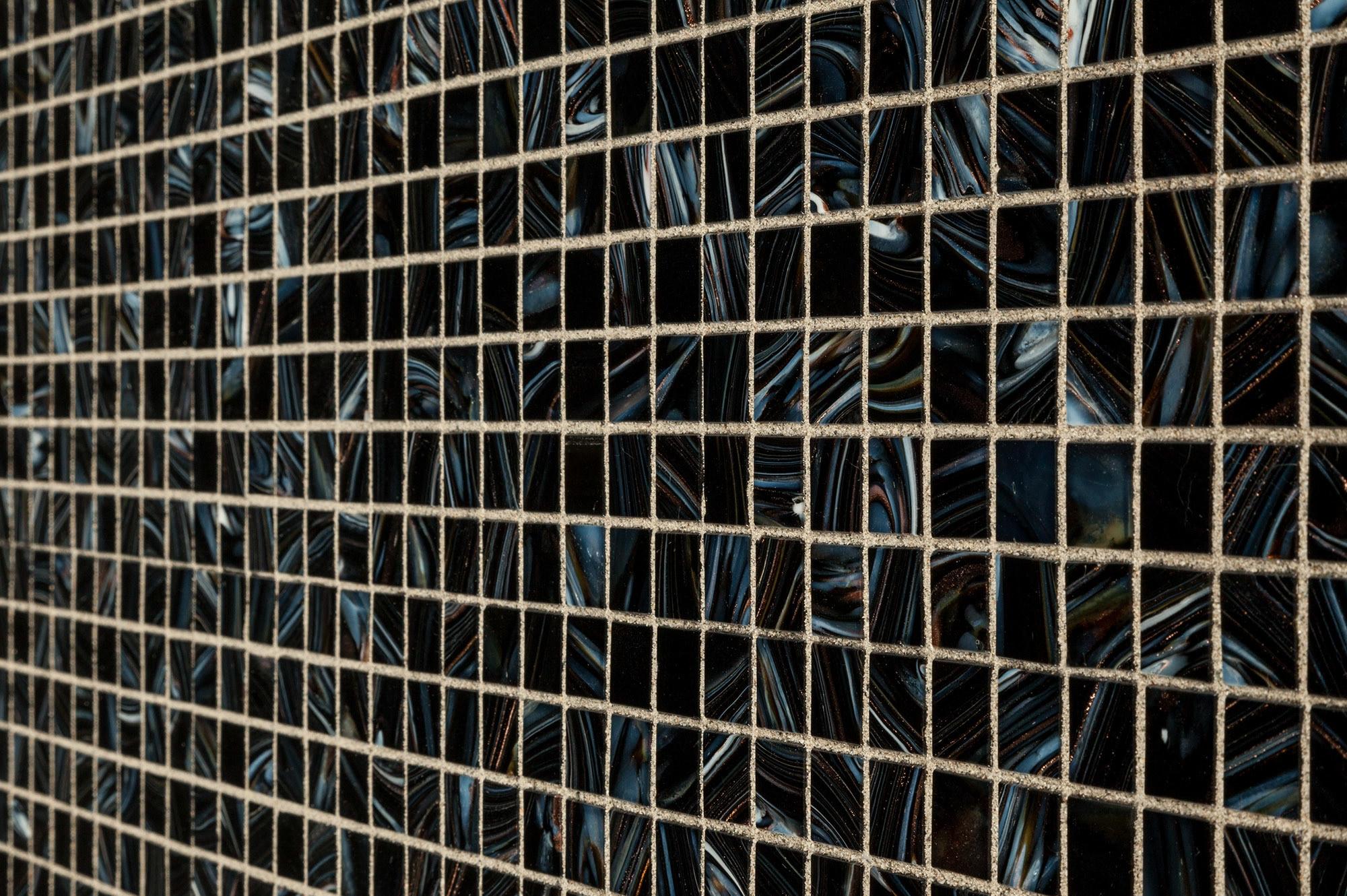 "Midnight Blue / 3/4""x3/4"" Glass Mosaic - Iridescent Series 0"