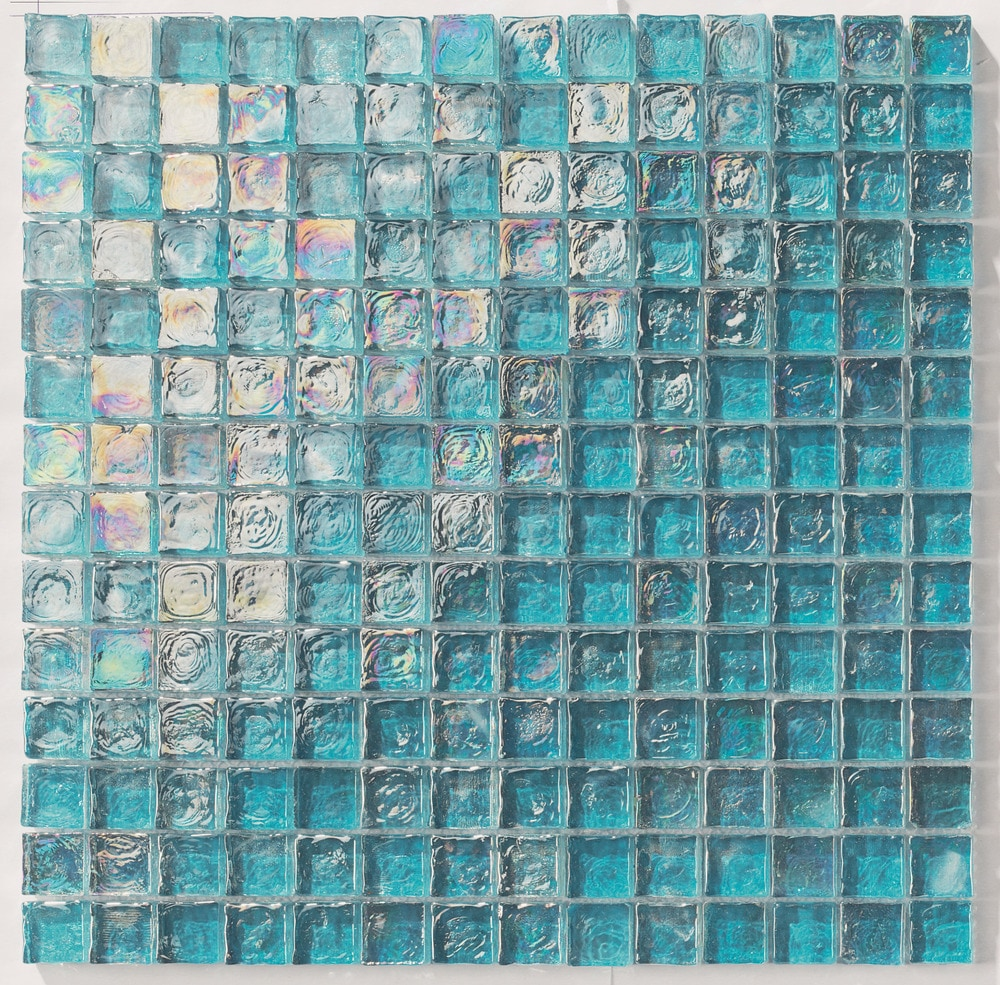 Tiles And Deco Turquoise 1 Quot X 1 Quot Glass Mosaic Pool Glass