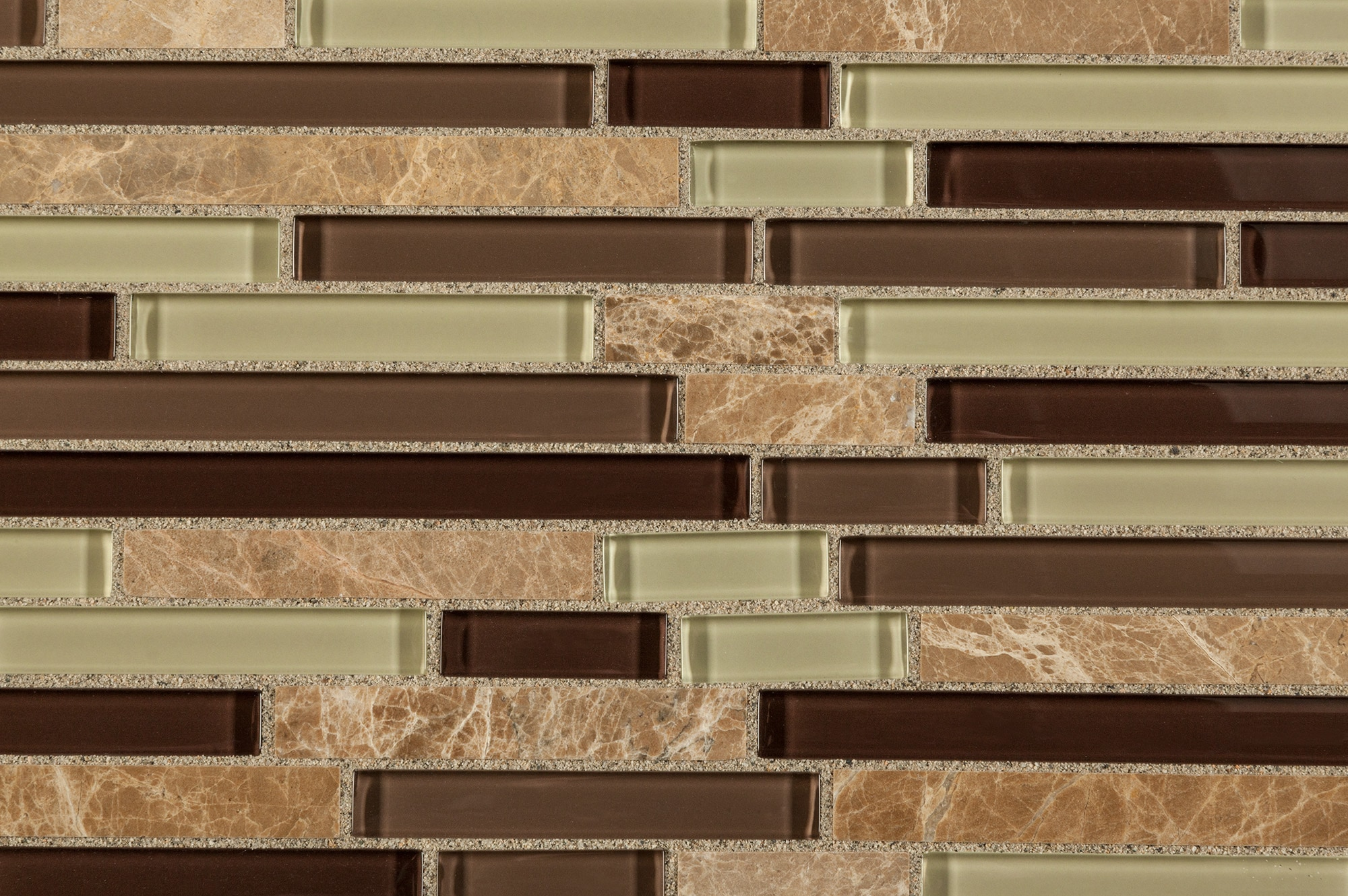 Cabot Mosaic Tile Glass Stone Blends Aspen Interlocking Pattern