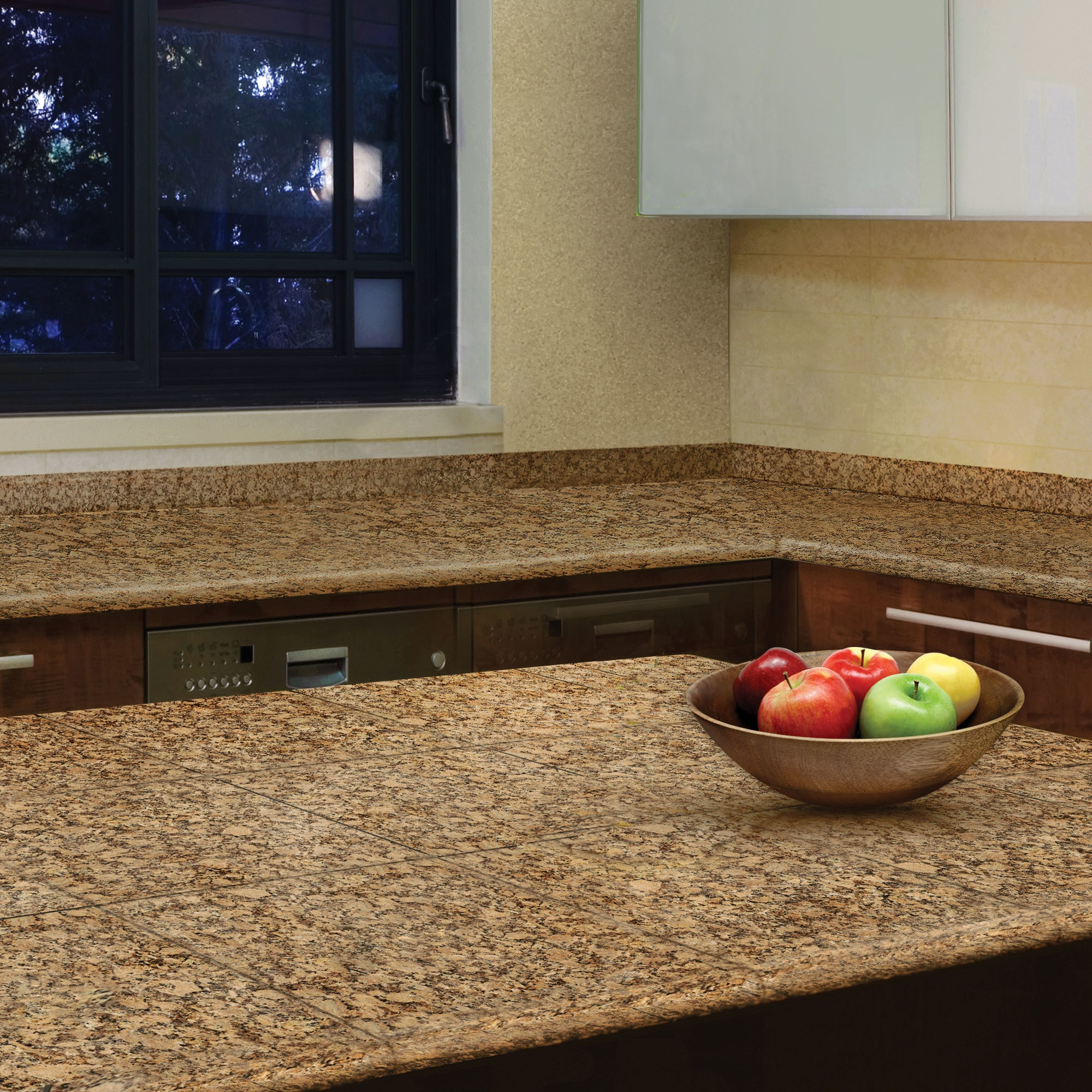 Pedra Granite Modular Kitchen Tiles   Topstone Collection Giallo Fiorito /  End Set. )