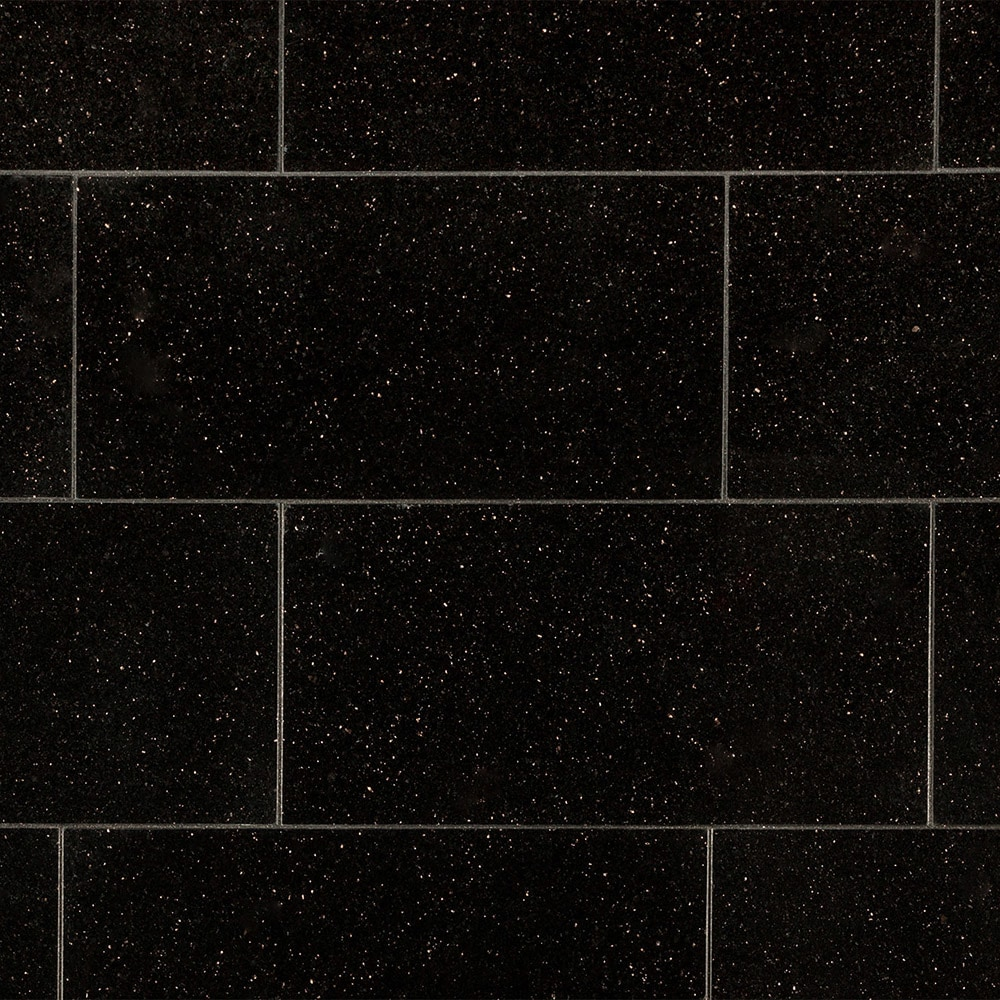 Agra Granite Tile Pallavas Collection Black Galaxy 12
