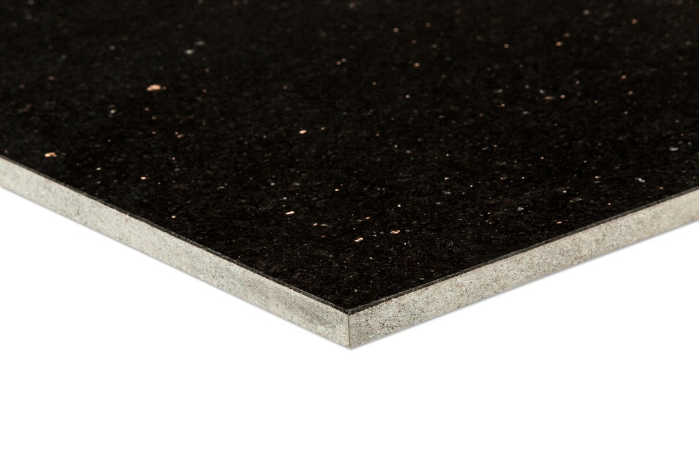 Agra Granite Tile Pallavas Collection Black Galaxy 12x24x38