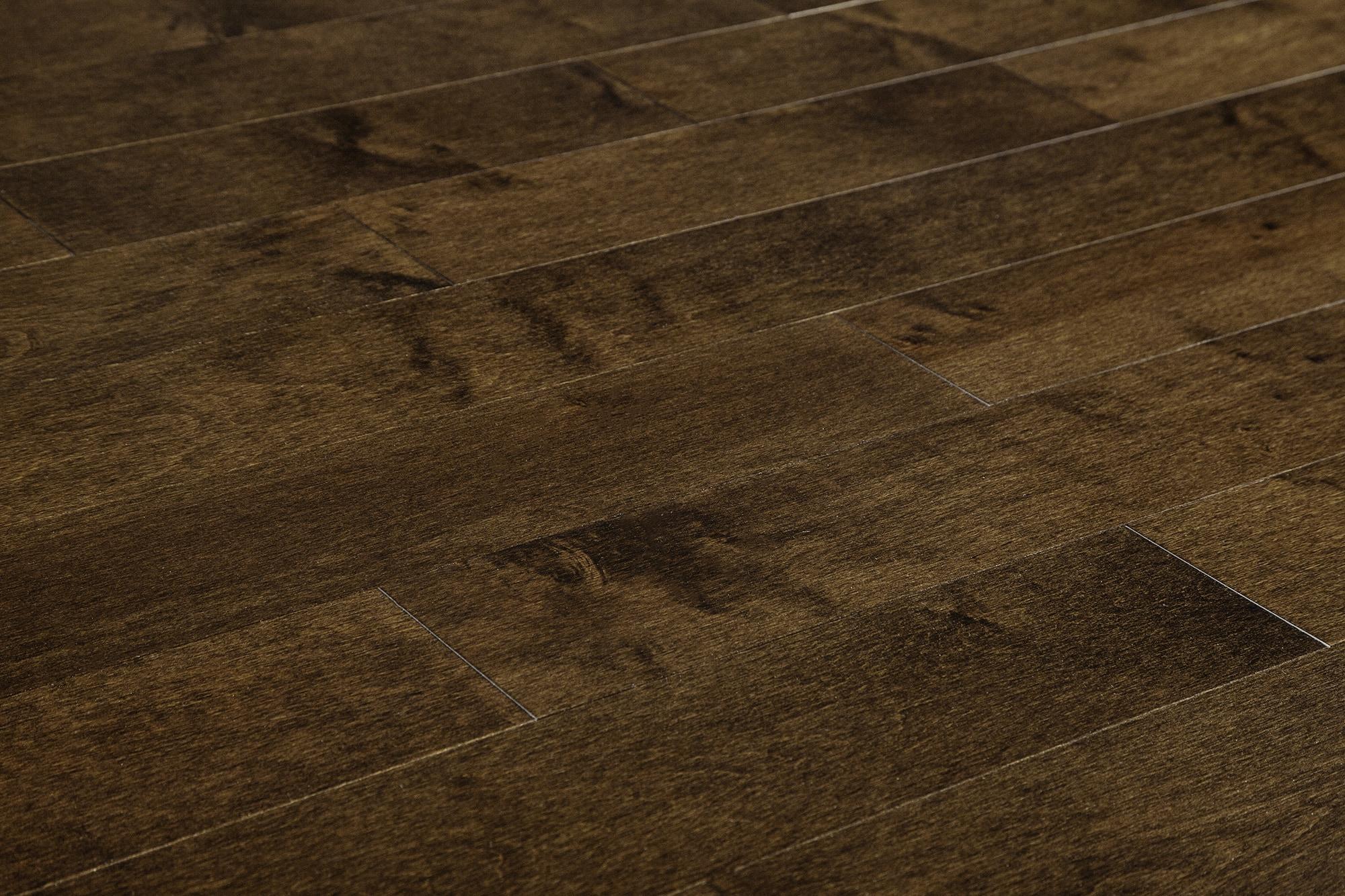 "Coffee / Hard Maple / Standard / 4 1/4"" Hardwood - Canadian Hard Maple Collection 0"