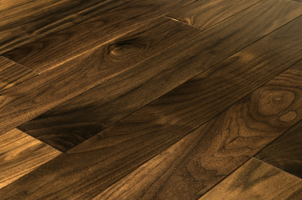 Free samples jasper hardwood prefinished american black for Walnut hardwood flooring