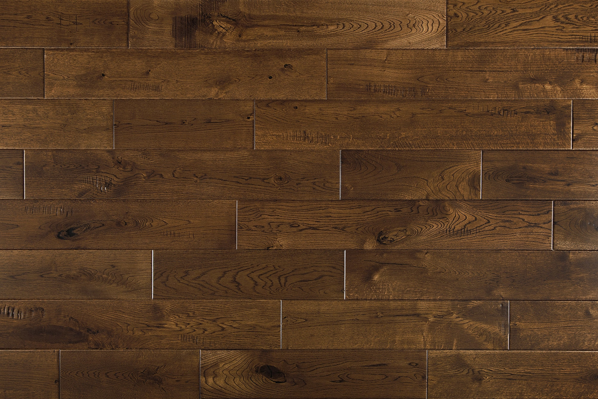 """Tobacco / French Oak / Builders / 6"""" / Distressed Hardwood Flooring - Maison Oak Collection 0"""