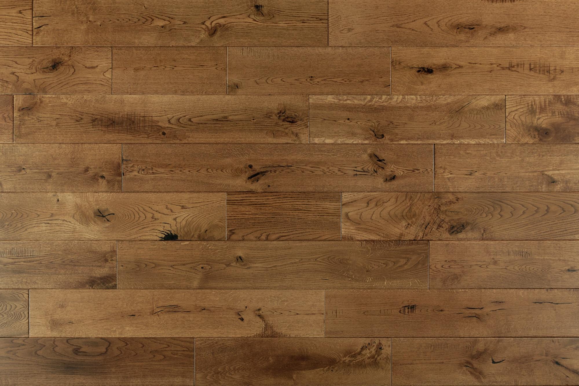 "Golden / French Oak / Builders / 6"" / Distressed Hardwood Flooring - Maison Oak Collection 0"