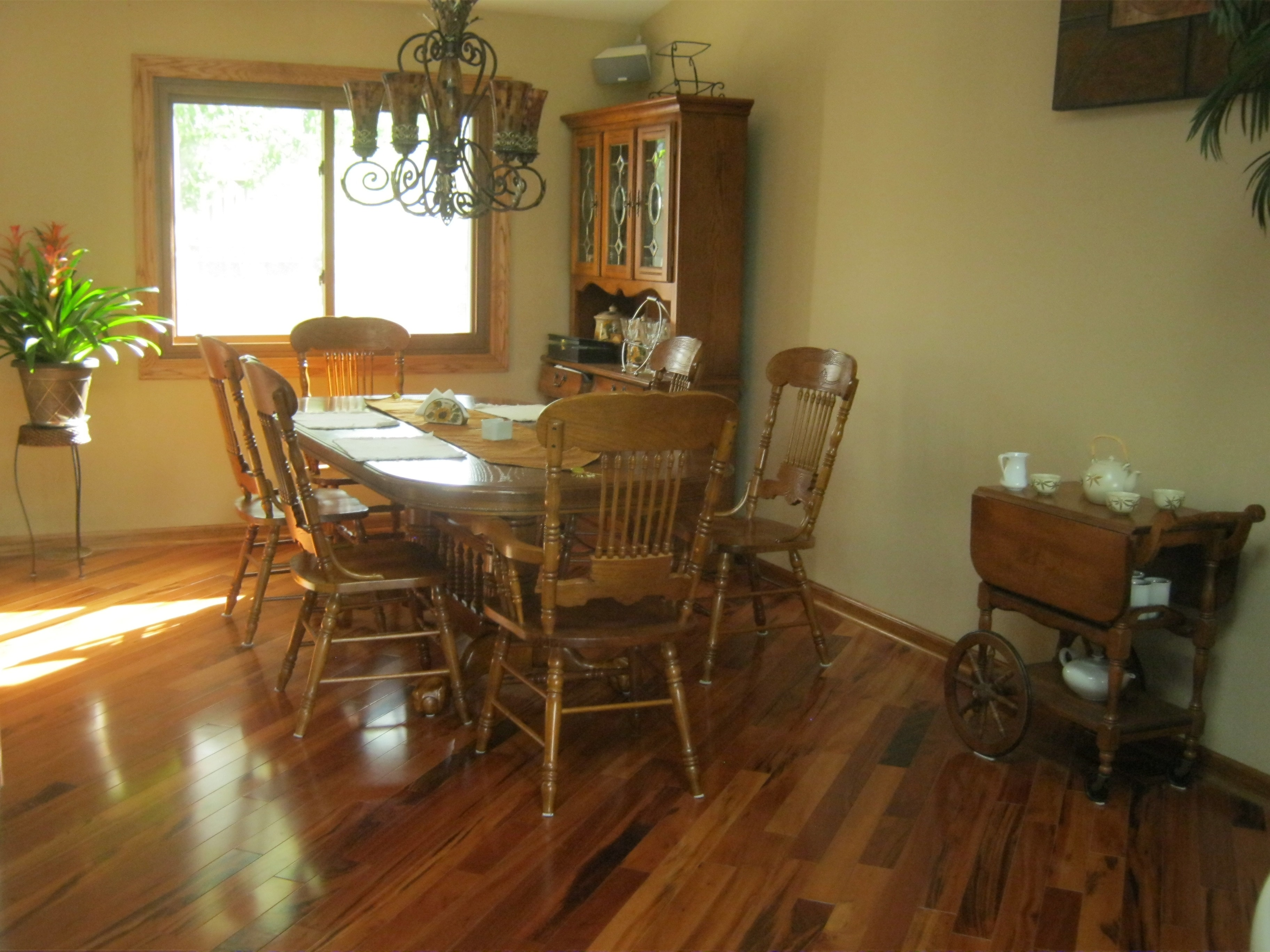 Kitchen cabinets with tigerwood floors - Mazama Hardwood Exotic South American Collection Natural Tigerwood Premiere 3 1 4