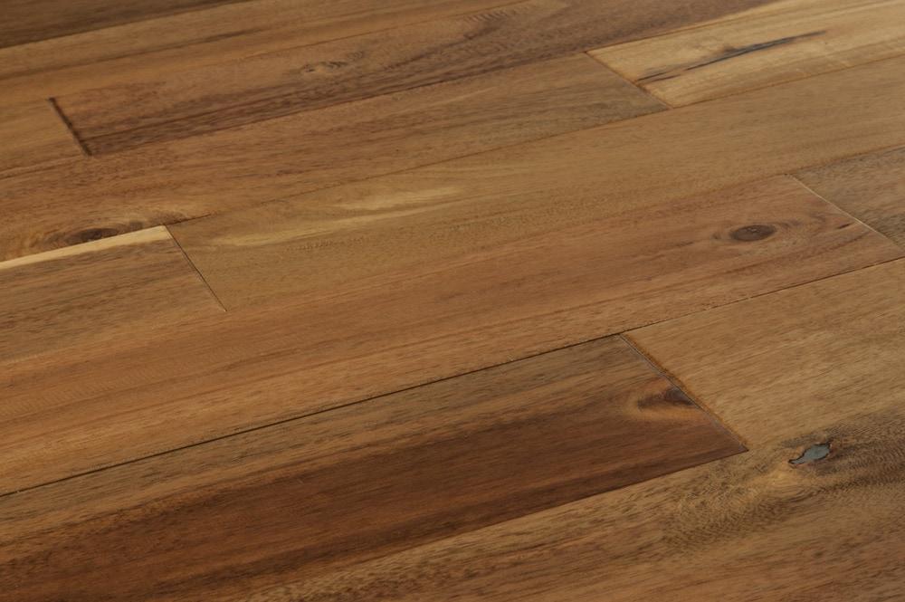 Mazama hardwood handscraped acacia collection chai beige for Builder s pride flooring