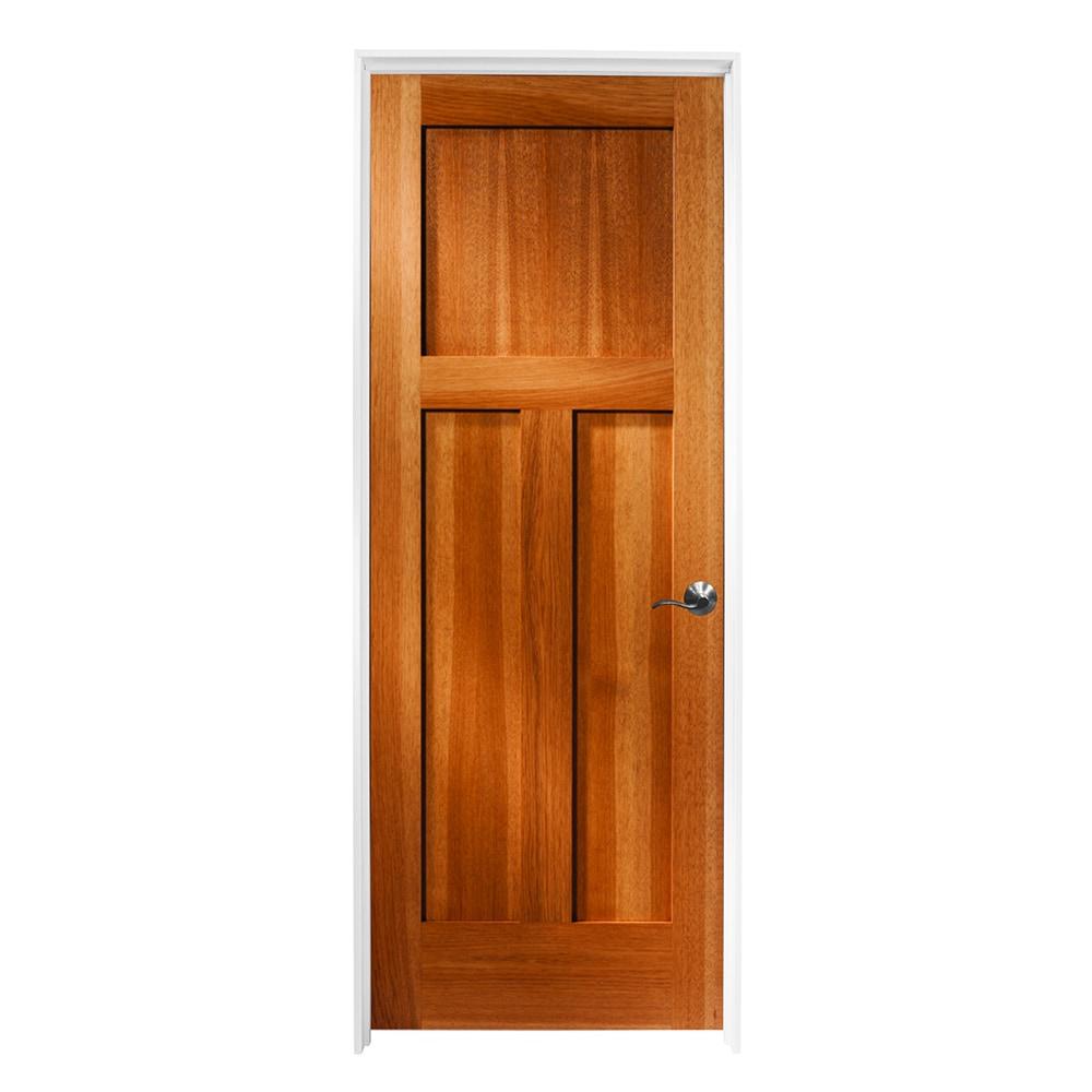 Woodport doors interior doors knock down shaker collection honey dew hickory 36 x80 for Prehung hickory interior doors