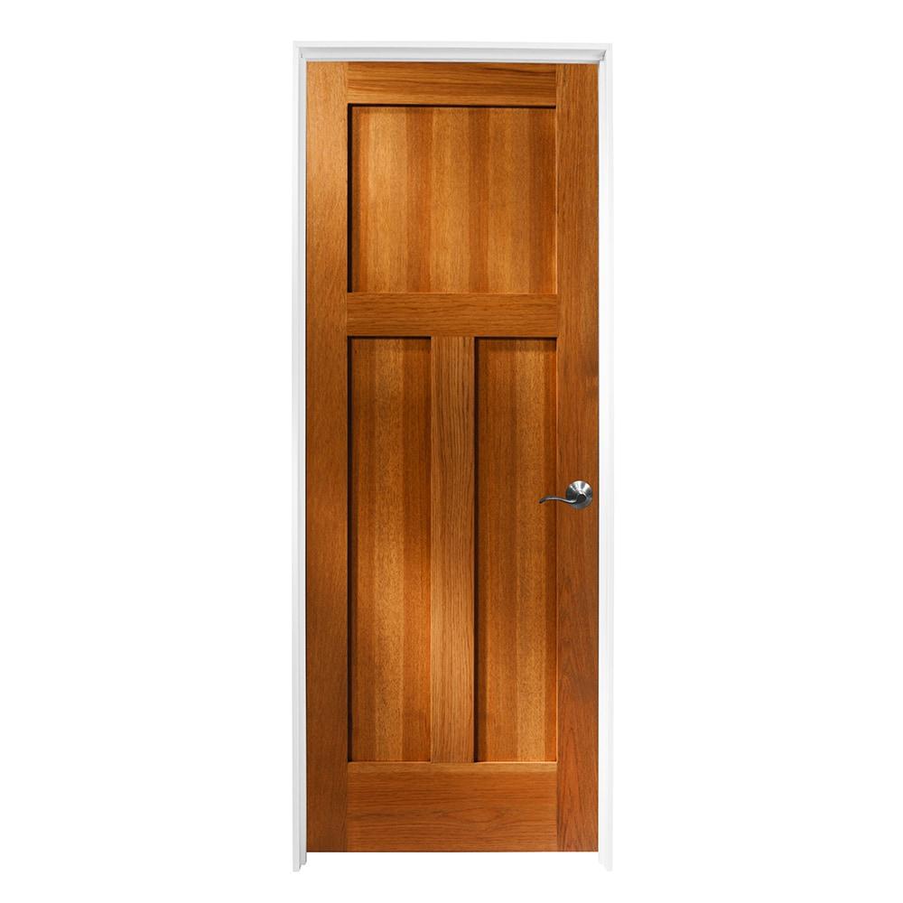 Woodport doors interior doors knock down shaker collection sandstone hickory 30 x80 for Prehung hickory interior doors