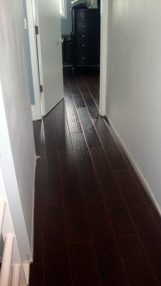 Free Samples Lamton Laminate 12mm Wide Board Collection Hickory Ebony