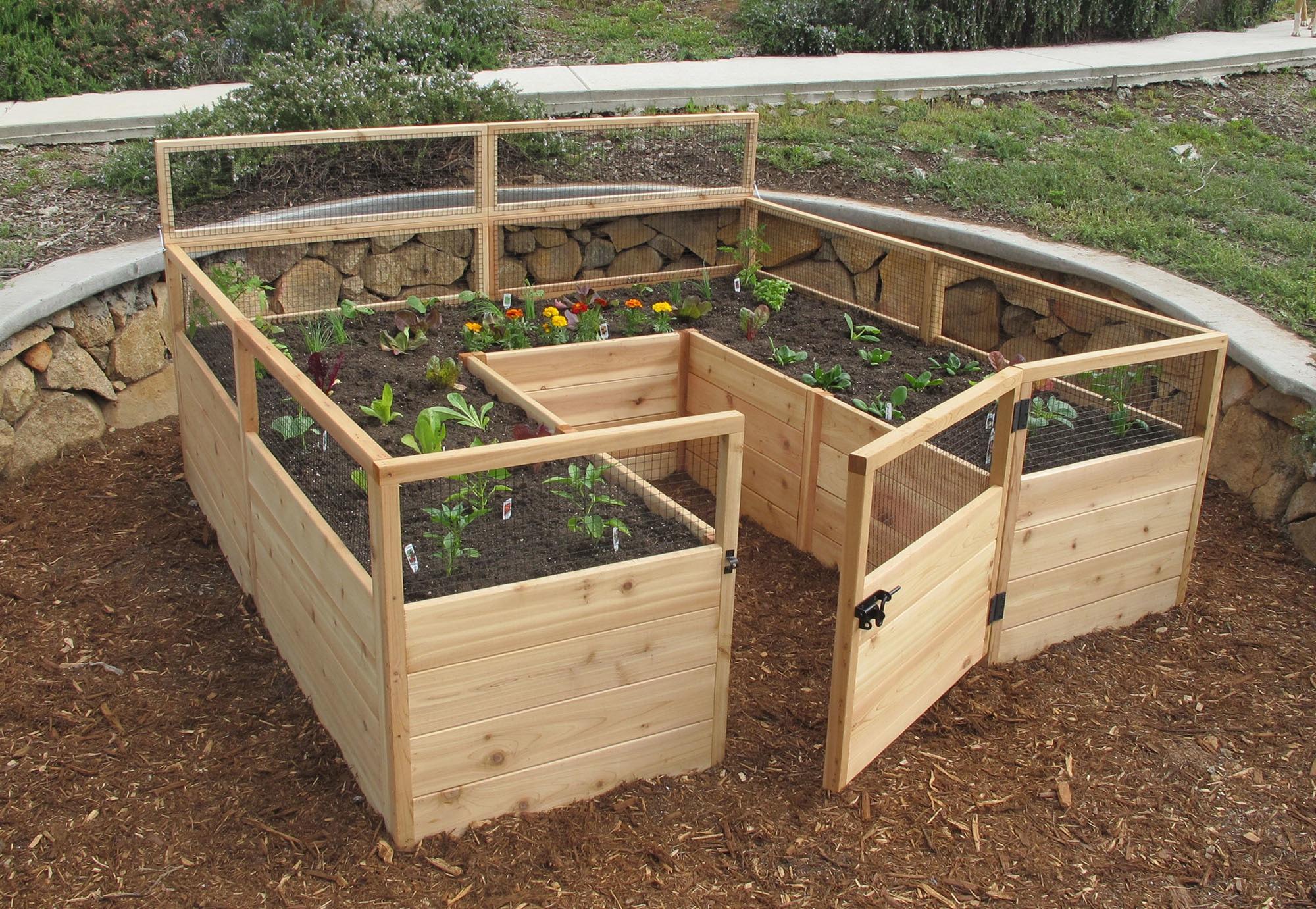 view kit quick raised cedar complete walmart depot bed home large garden