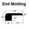 "Carbonized / End Molding-7/16""x1 7/8""x72 3/4"""