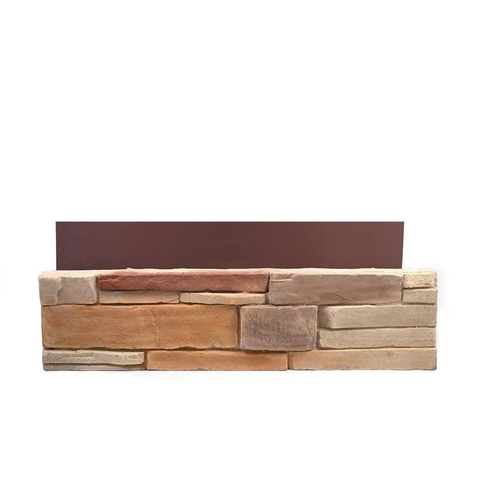 Adorn mortarless stone veneer siding desert tan 4 sq ft for Mortarless stone veneer panels