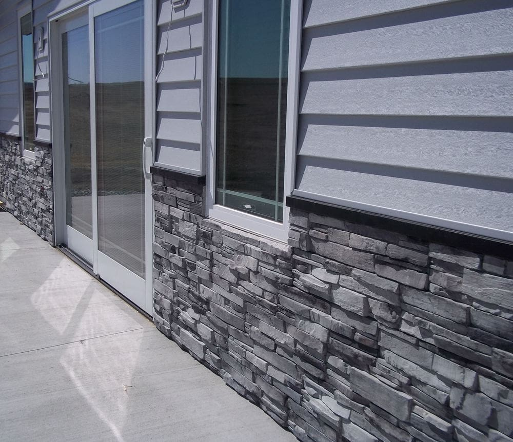 Adorn Mortarless Stone Veneer Siding Colorado Gray Panel