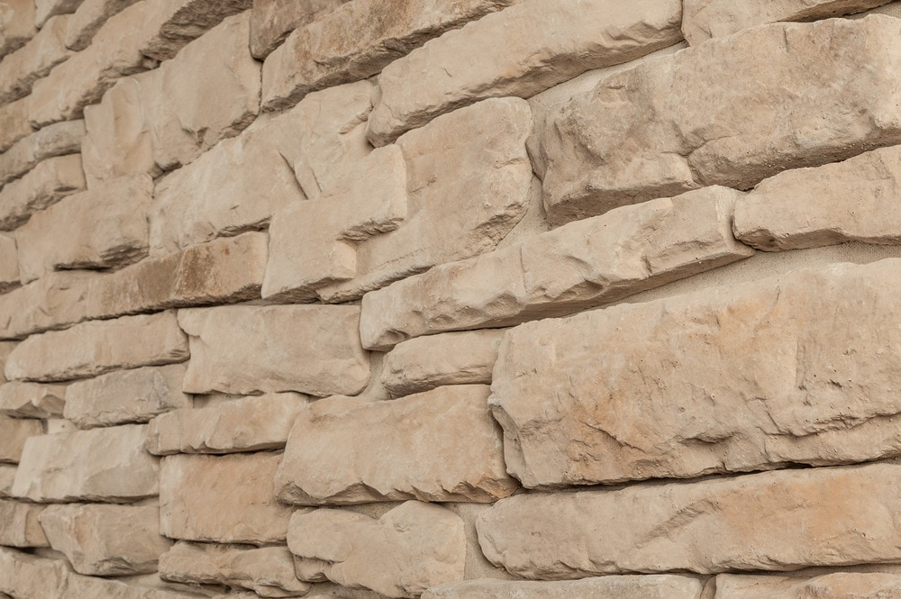 Stone Veneer White : Strongside manufactured stone ledge white