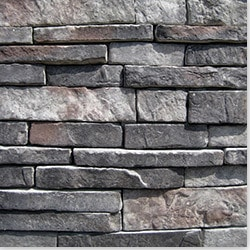 Manufactured Stone   Stacked Stone Midnight   Midnight / 10 Sq Ft / Flat