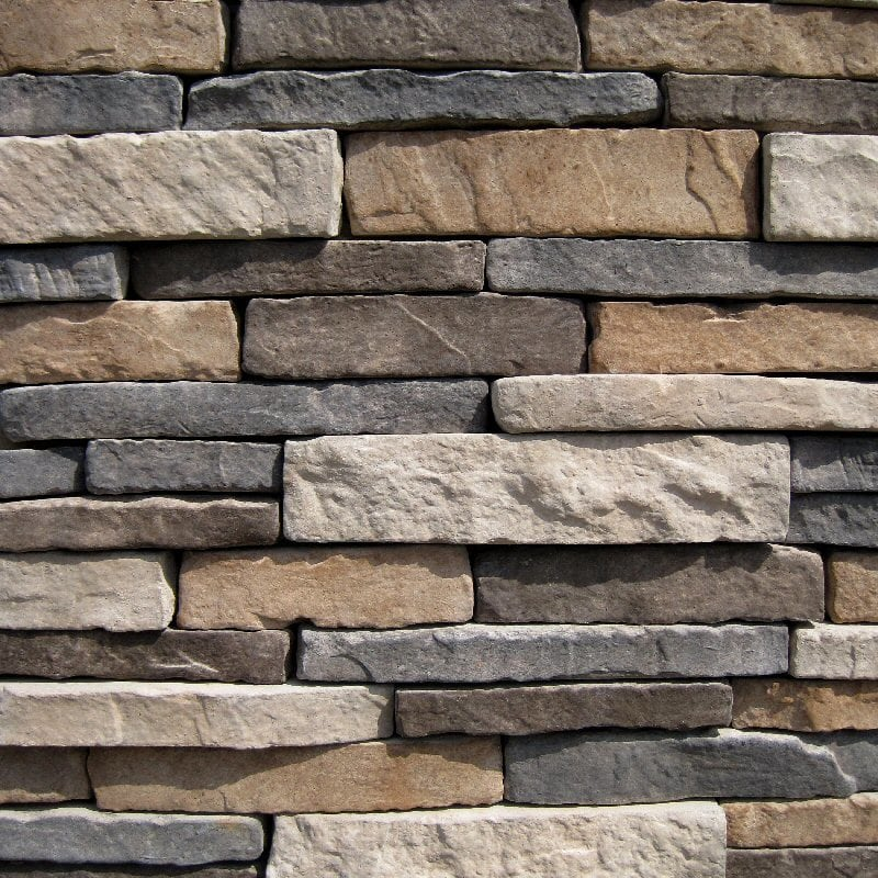 Free samples black bear manufactured stone stacked for Manufactured veneer stone