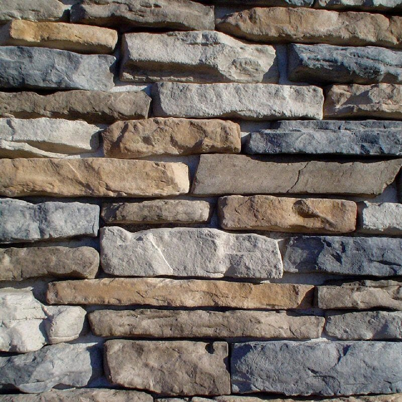Black bear manufactured stone ledge stone ozark for Manufactured veneer stone