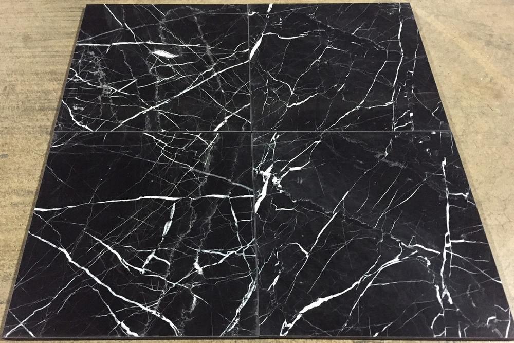 Cabot Marble Tile China Black 12x12 Polished