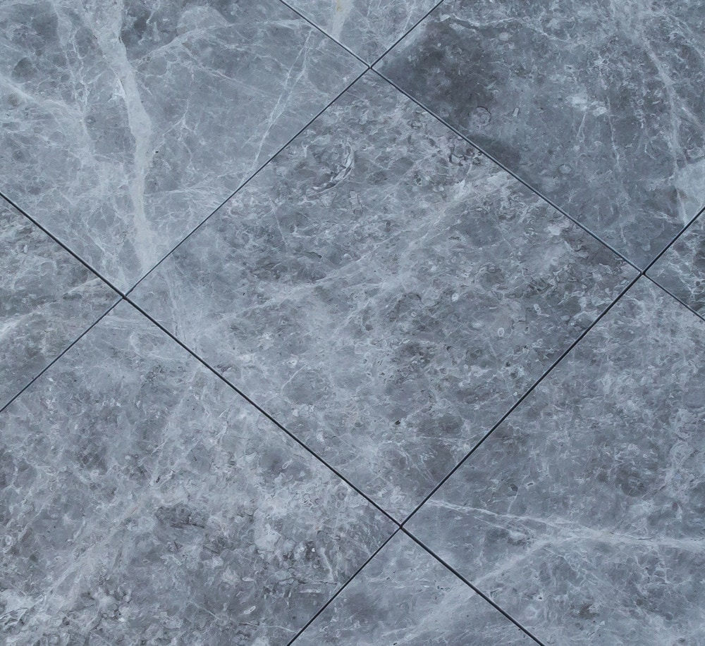 Kesir Marble Tiles Tundra Earth Grey 12x12 Angle