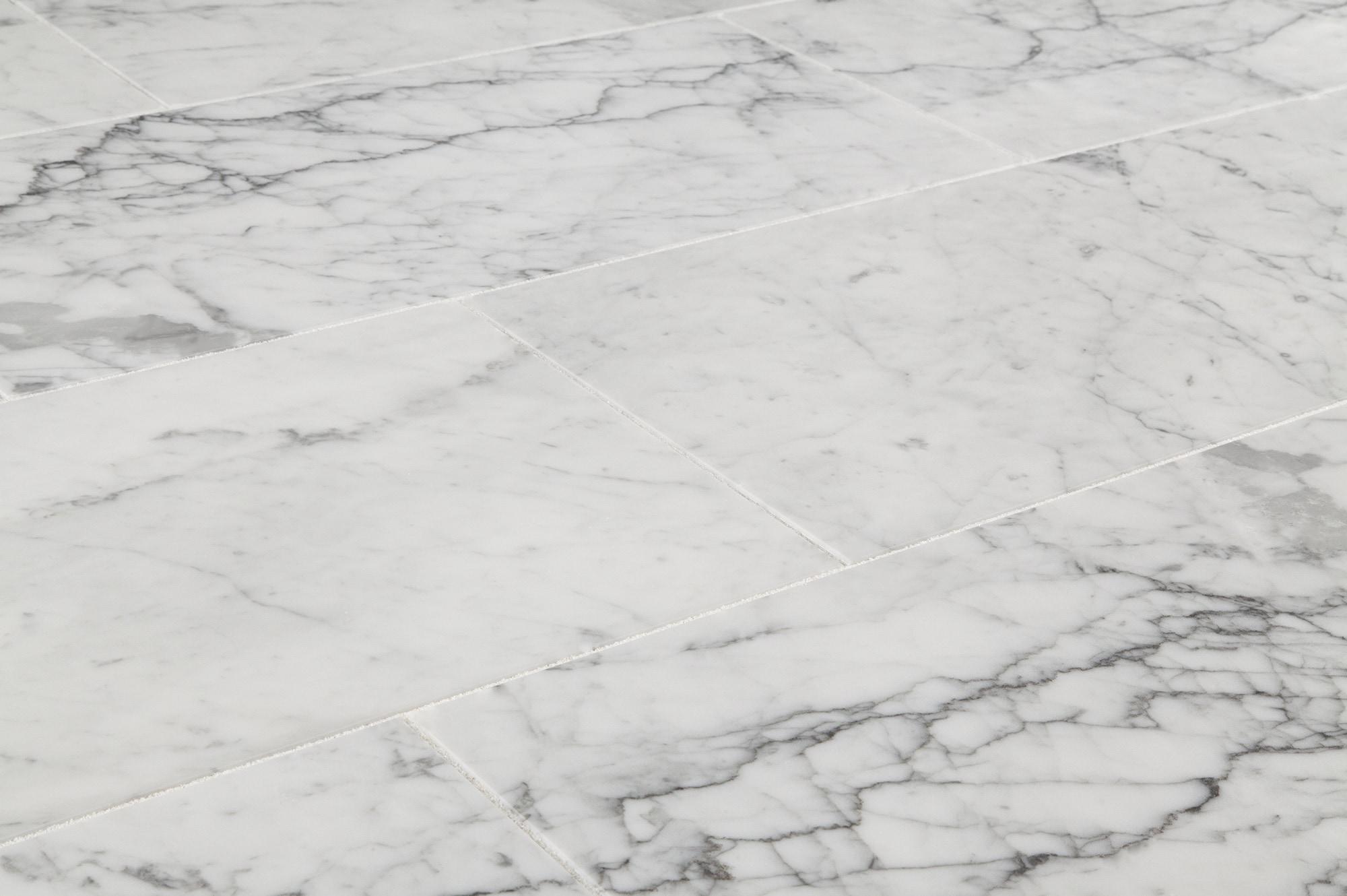 Pedra Marble Tile - Coliseum Collection Carrara White Supreme / 12 ...