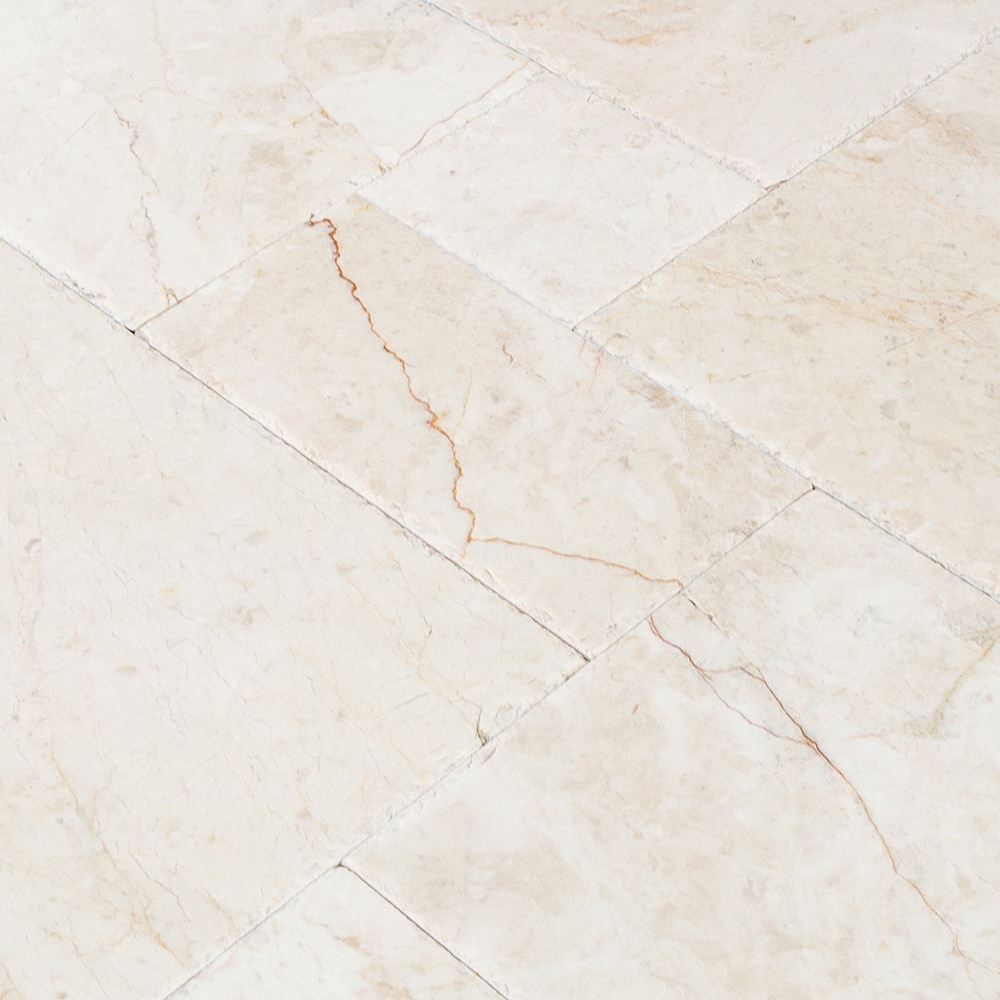 FREE Samples: Troya Marble Tile - Versailles Pattern Cappuccino /  Versailles Pattern / Brushed and Chiseled