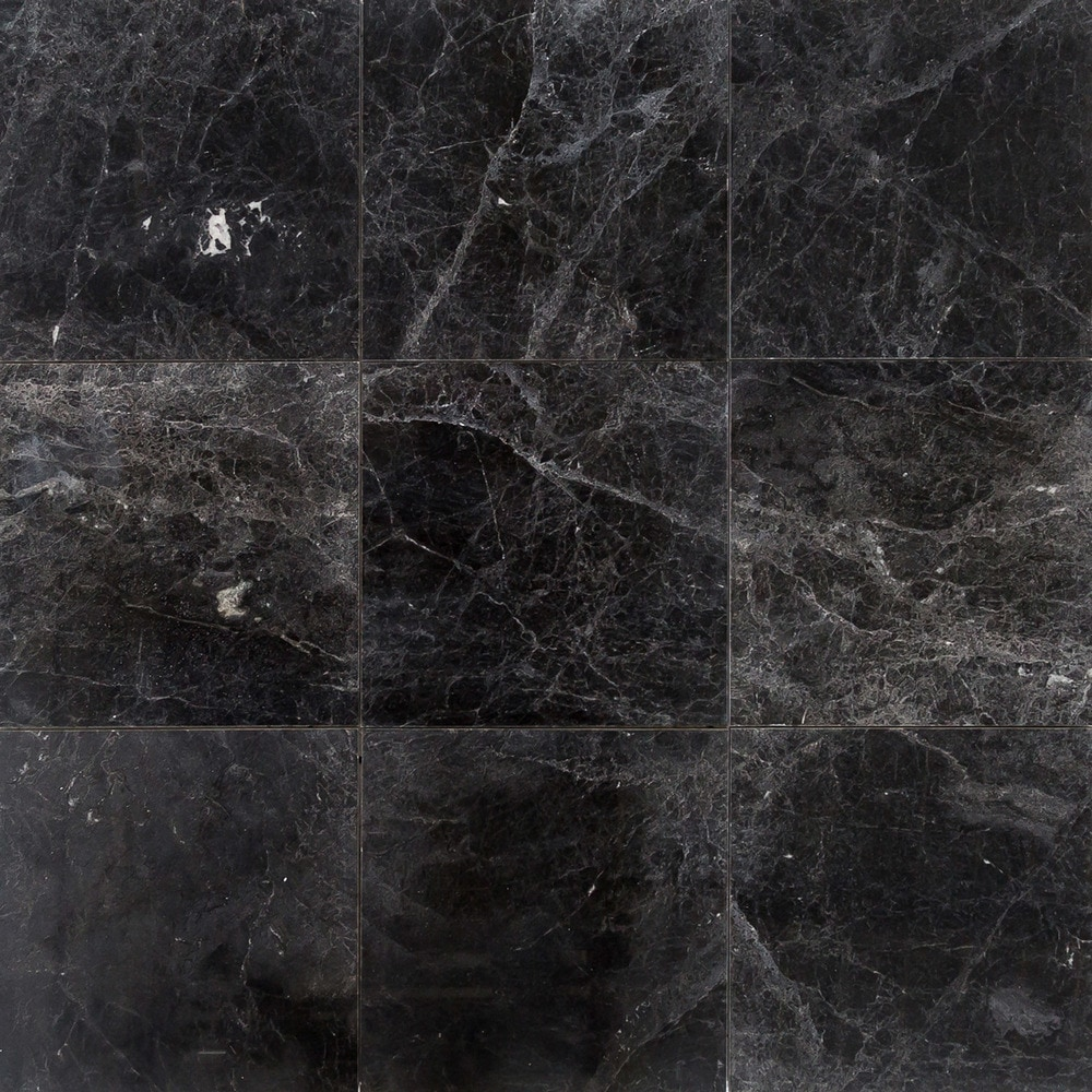 Black Marble Tile : Free samples troya marble tile sirius black quot x