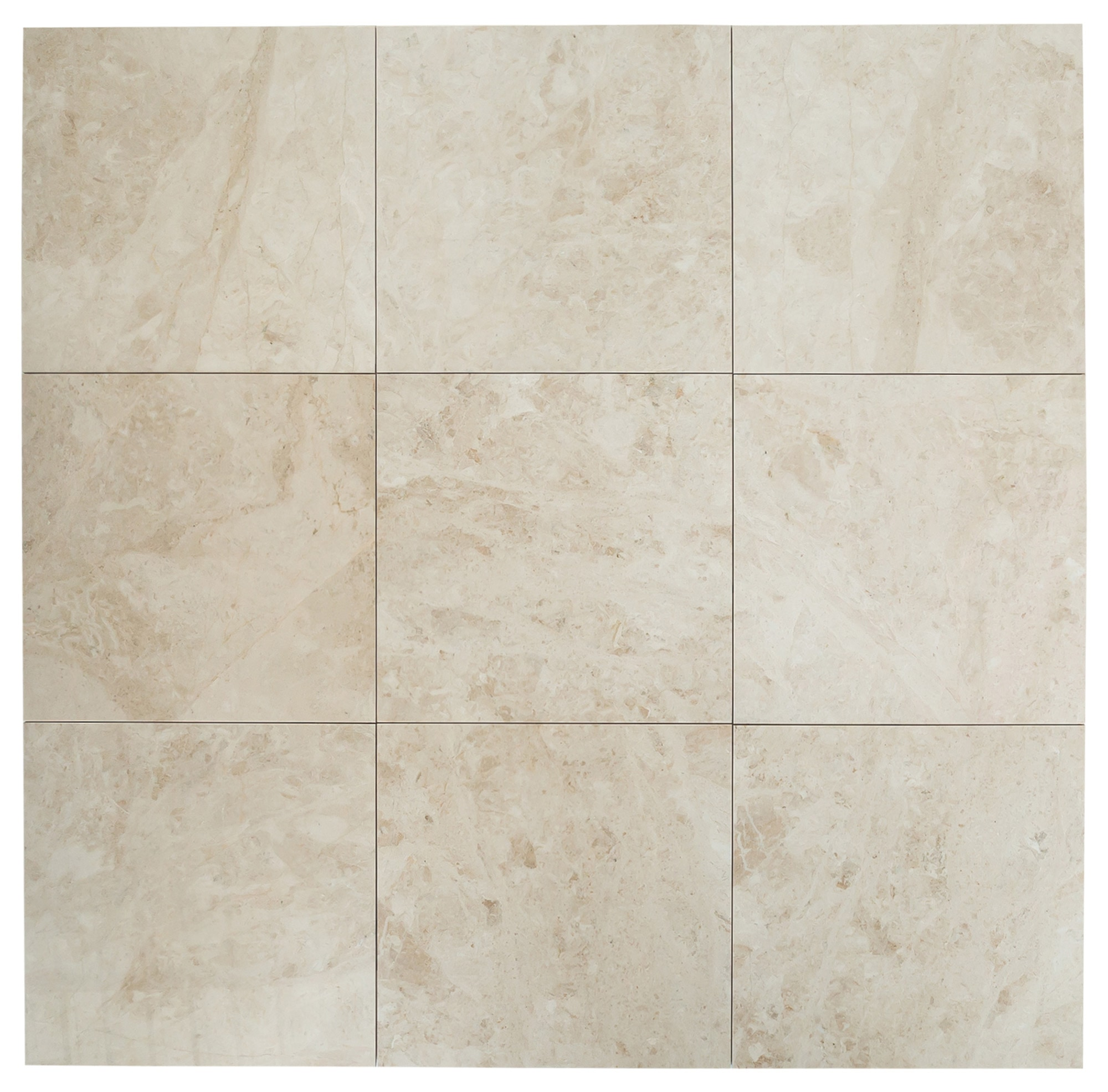 """Cappuccino Light Premium / 24""""x24""""x1/2"""" / Polished Marble Tile 0"""