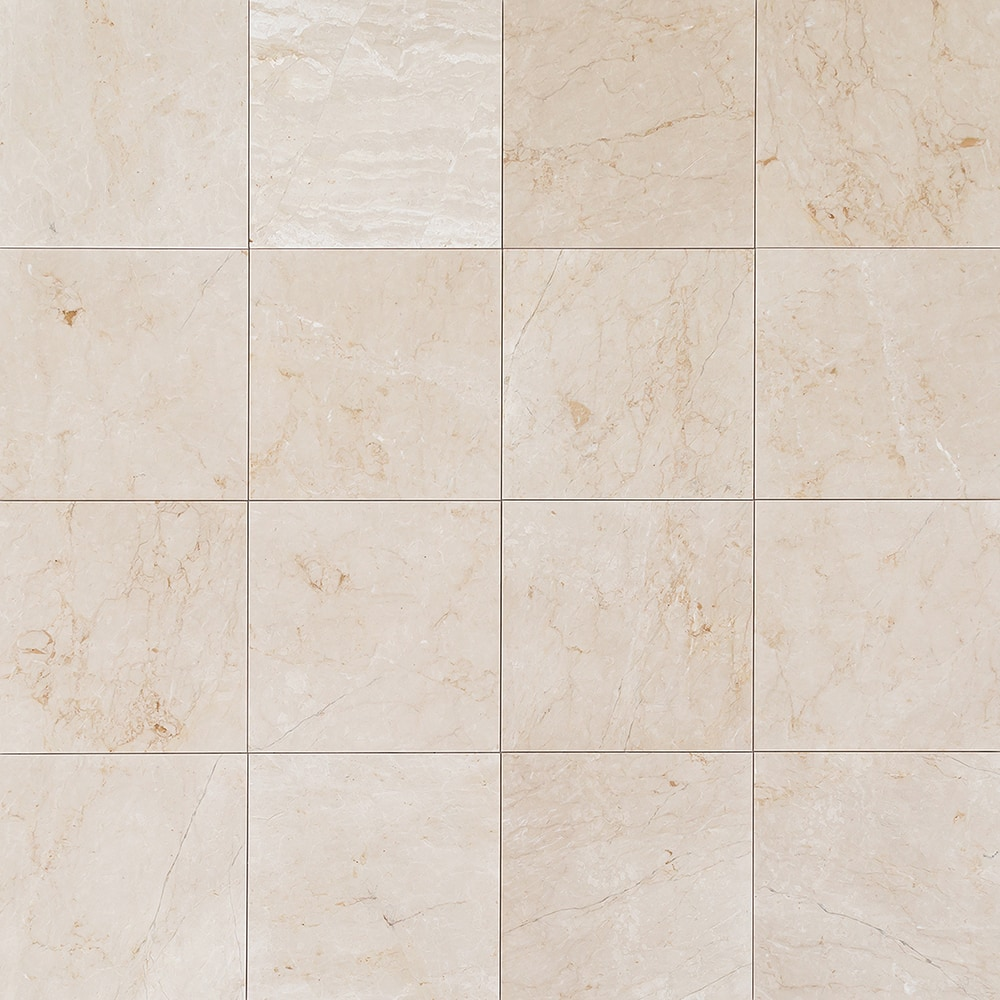 Troya Marble Tile Calista Cream Medium 18x18 Polished