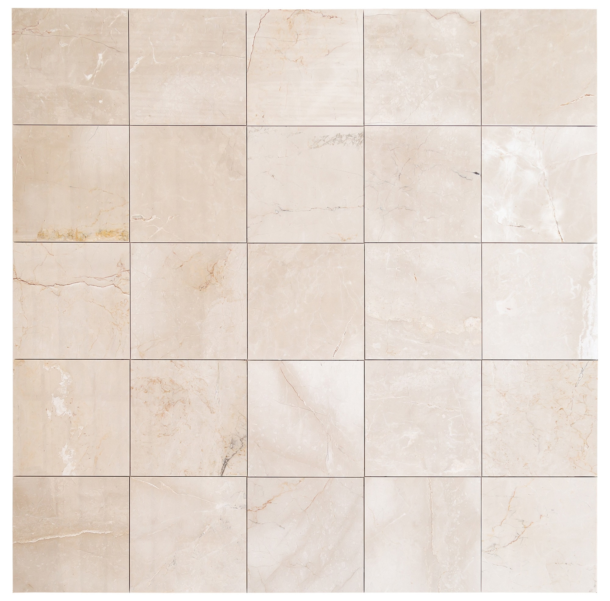 "Troya Marble Tile Calista Cream Medium 12""x12"" Polished"