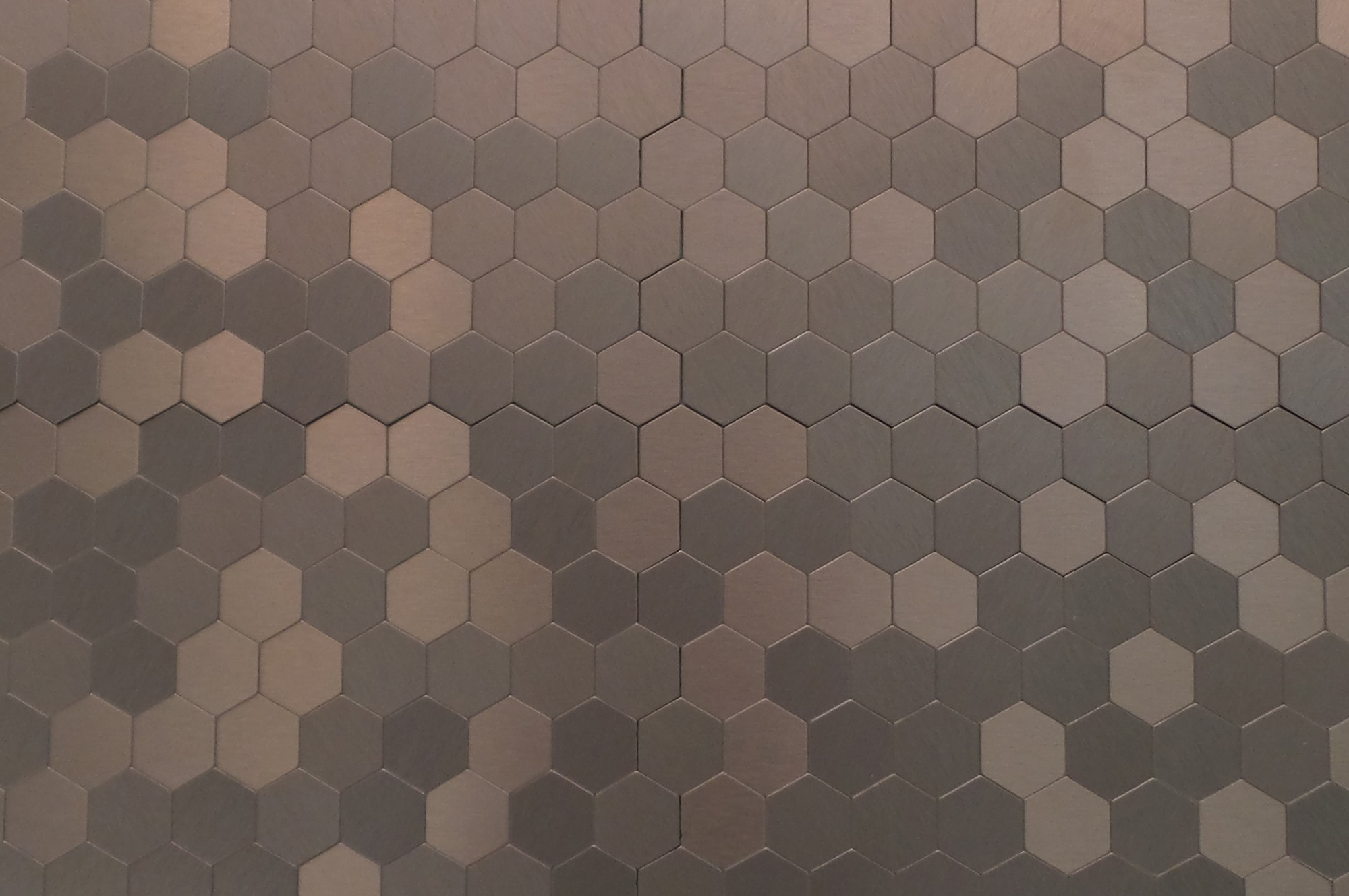 Gl stone tile mosaic tile peel stick metal series bronze gl stone tile mosaic tile peel stick metal series bronze hexagon 15 dailygadgetfo Gallery