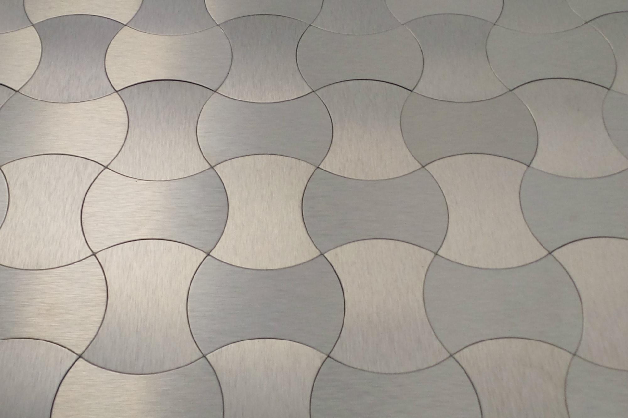 gl stone & tile mosaic tile - peel & stick metal series gold wave