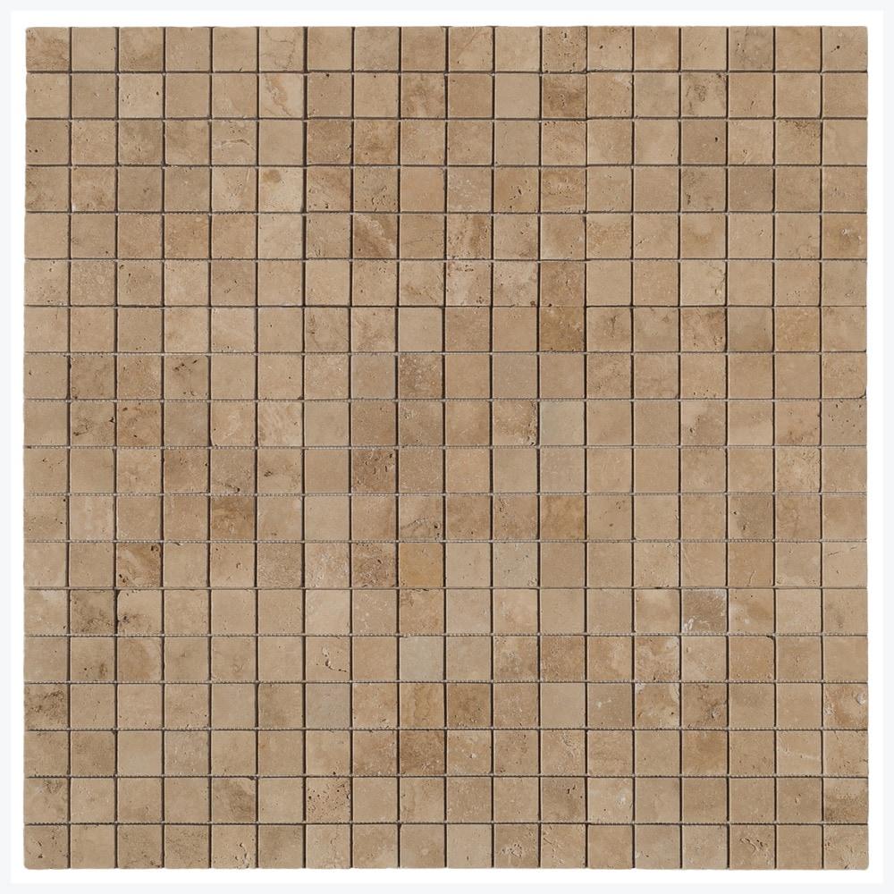 Mini Java Tan Pebble Tile 1 sq.ft. Mesh Mounted